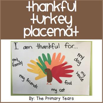 Thankful Turkey Placemats