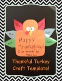 Thankful Turkey Template