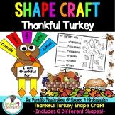 Thankful Turkey Thanksgiving Shape Craft