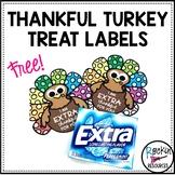 Thankful Turkey Treat Labels