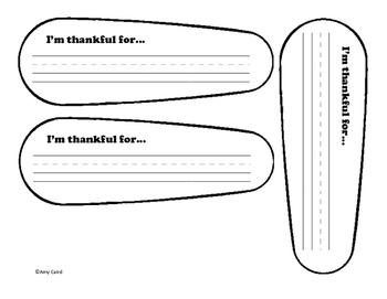 Thankful Turkey Writing Craft