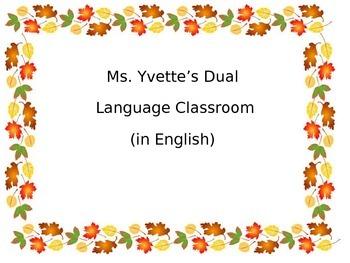 Thankful Turkey in English