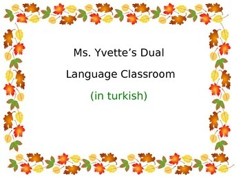 Thankful Turkey in Turkish