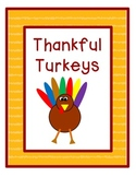 Thankful Turkeys (Cut-N-Paste Turkey Pattern Craft)