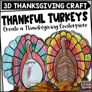 Thanksgiving Craftivity - Thankful Turkeys