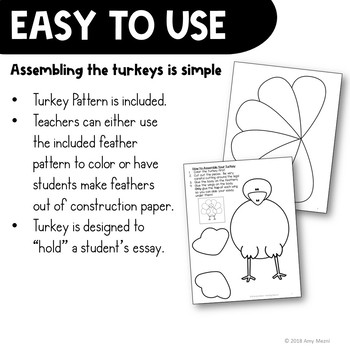 Thankful Turkeys: A Thanksgiving Craftivity Writing Project