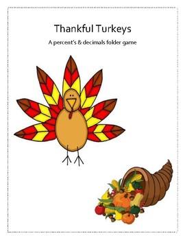 Thankful Turkeys: A percent's and decimals game