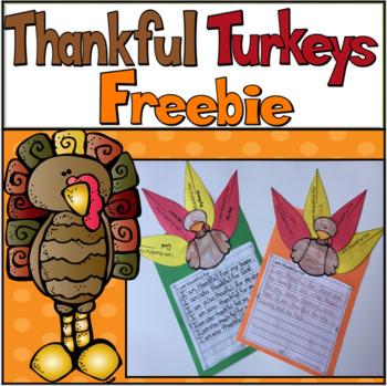 Thankful Turkeys Writing Craftivity Freebie