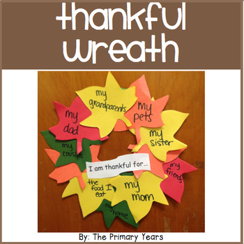 Thankful Wreath Craftivity