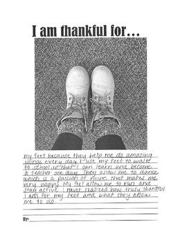 Thankful Writing Activity