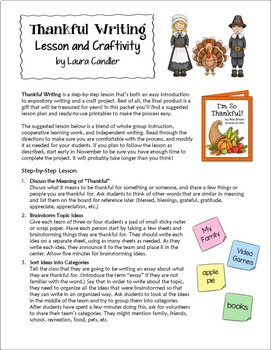 Thanksgiving Writing Activity and Lesson (Free!)