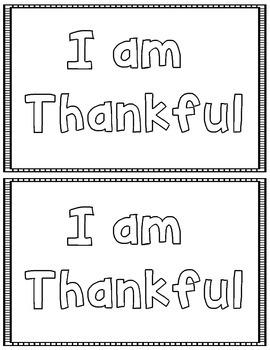 Thankful Writing Display