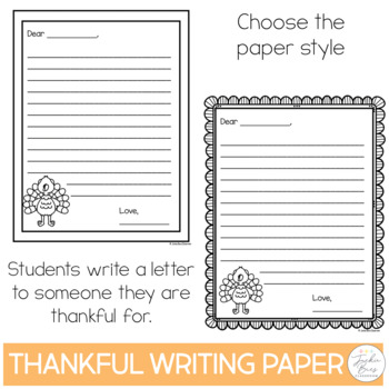Thankful Writing Paper