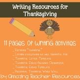 Thankful Writing Resources Bundle for Thanksgiving!