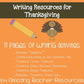 Thankful Writing Resources Bundle for Thanksgiving!