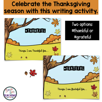 Thankful Writing for use with Google Classroom