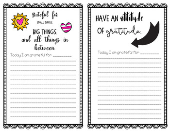 Thankful and Grateful - Journal of Gratitude