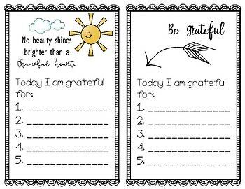 Thankful and Grateful - Lists of Gratitude