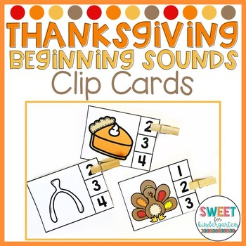 Thankful and Grateful Thanksgiving Beginning Sounds Clip It