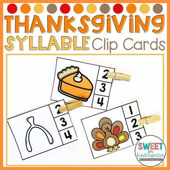 Thankful and Grateful- Thanksgiving Syllables Clip It