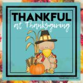 Thankful at Thanksgiving Themed Unit-Preschool Lesson Plan