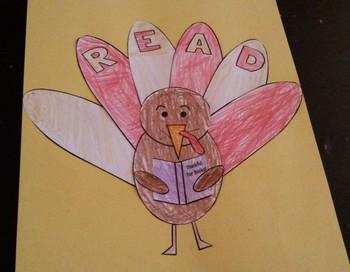 Thankful for Books Turkey Thanksgiving Craft