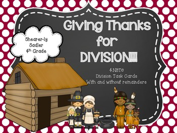 Thankful for Division Task Cards