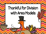 Thankful for Division with Area Models