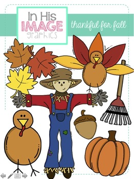 Thankful for Fall (Clipart for Personal/Commercial Use)