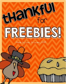 Thankful for Freebies - A Thanksgiving-Themed Freebie