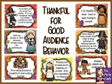Thankful for Good Audience Behavior Bulletin Board Kit