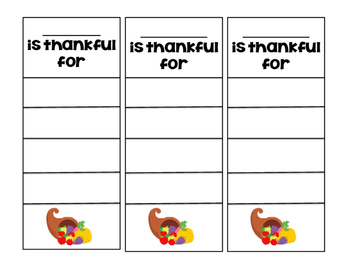 Thankful for... List