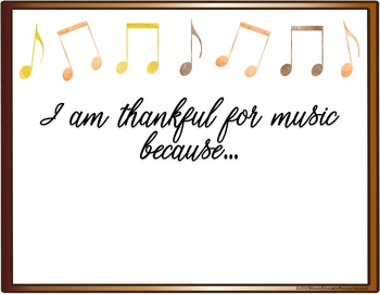 Thankful for Music Photo Prop