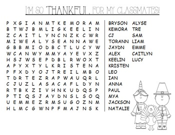 FREE! Thankful for My Classmates - How to Guide
