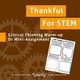 Thankful for STEM -- Thanksgiving STEM Activity Sheet