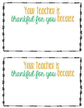 Thankful for Students