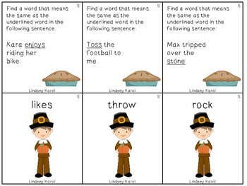 Thankful for Thanksgiving Semantics Pack