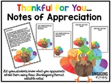 Thankful for You... Notes of Appreciation