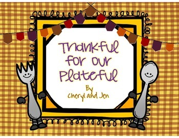 Thankful for our Plateful {Thanksgiving Literacy FREEBIE}