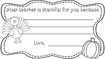 Thankful Certificates