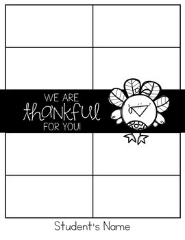 Thankful for you - Classroom Community Building