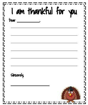 Thankful for you letter template