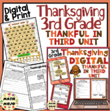 Thanksgiving Unit: Thankful in Third - 3rd Grade