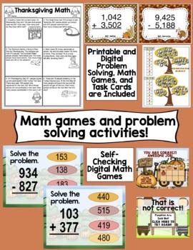 3rd Grade Thanksgiving Activities: Thankful in Third 3rd Grade Thanksgiving Unit