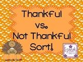 Thankful vs. Not Thankful Sort