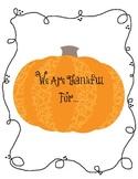 Thankfulness Creative Writing Unit