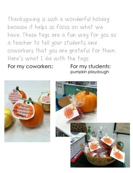 Thankfulness Gift Tags