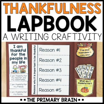 Thankfulness Lapbook Writing Craftivity