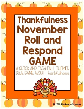 Thankfulness Make Your Own Dice Game