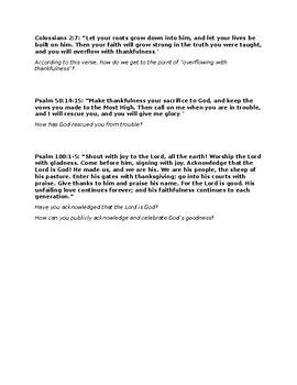 Thankfulness Study